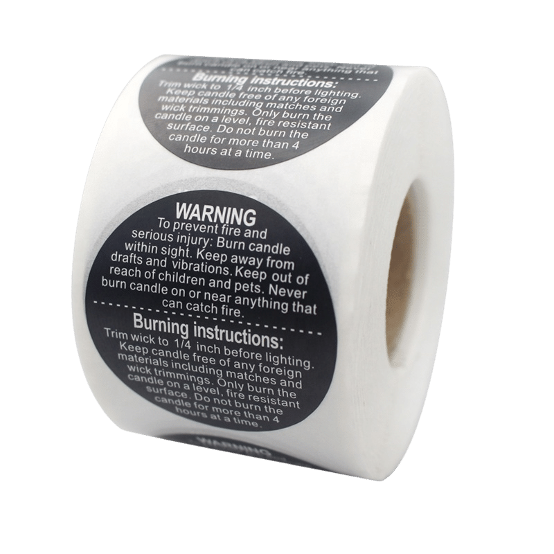 custom warnigng label sticker for candle making supplies (1)