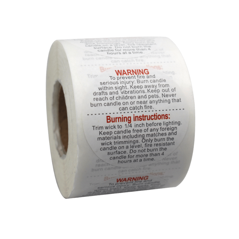 custom warnigng label sticker for candle making supplies (3)